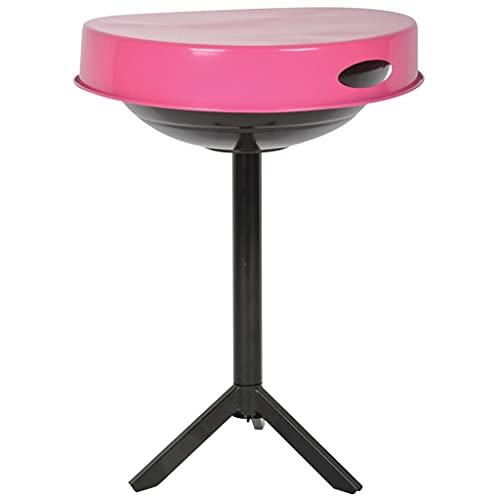 Oushome Esschert Design FF250 - Rejilla de mesa de carbón de acero rosa