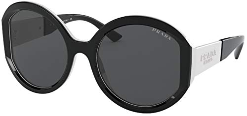 Prada - Gafas de sol unisex para adulto PR 22XS negro/blanco 55