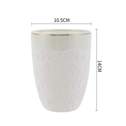 YYUYOM Geprägte Keramik versiegelte Dosen mit Deckel Aufbewahrung Zucker Zuckerdosen Lebensmittel Verschiedenes Getreide Aufbewahrungsdosen Kaffeedosen-G
