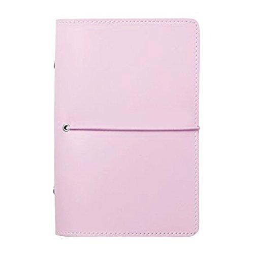 Labon's Filofax 6 Round Anello Hardcover Binder Personale Organizer Refills HA Linea Blank Dotted Griglia Filler Carta/Premio Loose Leaf 200 Pagine / 5 Divisorio Tabs inserisce (A7,Rosa)