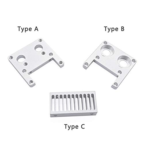 HUANRUOBAIHUO 1st UM2 koellichaam Seat koeltank Grooves Seat 3D printer for Ultimaker 2 Aluminium Radiator for 3D Printer Delen 3D Printer Parts (Size : Type A)