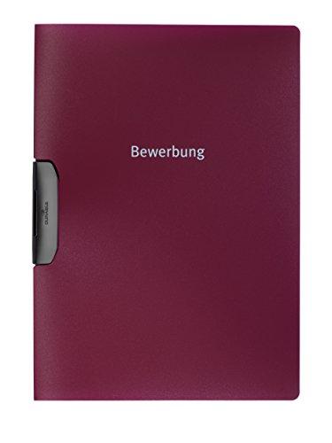 DURABLE Hunke & Jochheim Bewerbungsmappe DURASWING® JOB, Polypropylen, 30 Blatt, aubergine/d.rot