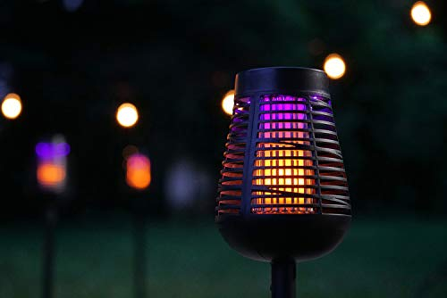 PIC Solar Insect Killer Torch (DFST), Bug Zapper and Accent Light, Kills Bugs on Contact