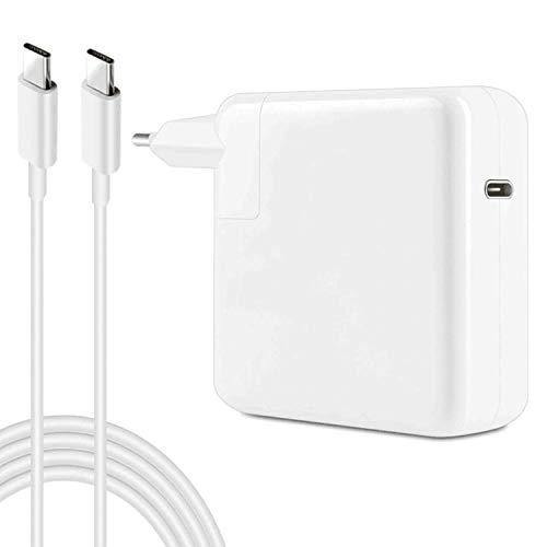 YWCKING Ersatz-Ladegerät für MacBook Pro, 61W USB-C auf USB-C Ac Adapter Ladegerät für MacBook Pro 12 Zoll 13 Zoll (61W USB-C), mit 2M C-USB-C-Ladekabeln.