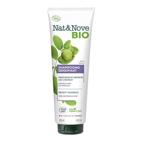Kéranove Naturanove Bio - Shampooing Densité Certifié Bio Noyer - Pour Cheveux Fins ou Fragiles - 250 ml