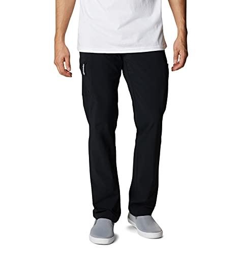 Columbia PFG Men's Terminal Tackle Fishing Pants, Stain Resistant, Sun Protection, Black, 34
