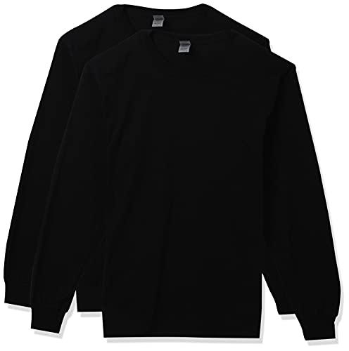 Gildan Men's DryBlend Long Sleeve T-Shirt, Style G8400, 2-Pack, Black, X-Large