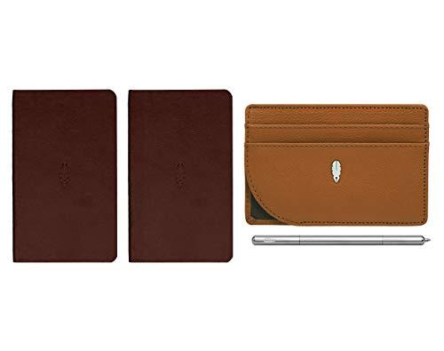 Inscribe Self Brieftasche aus echtem Leder für Männer (ideal für Stift) Braun
