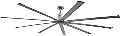 "Big Air 96"" Industrial Indoor/Outdoor Ceiling Fan, White"