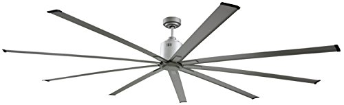 Big Air 96' Industrial Indoor/Outdoor Ceiling Fan, 6 Speed with Remote, Silver