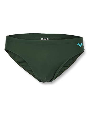 ARENA M Santamarias Slip Natación Hombre, Hombre, Calzoncillos de natación, 16752, Deep Forest Green/Turquoise, 95