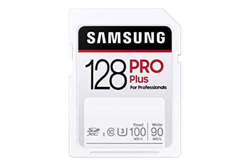 Samsung PRO Plus 128GB SDXC UHS-I U3 100MB/s Full HD & 4K UHD Speicherkarte (MB-SD128H/EU)