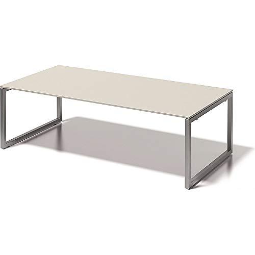 BISLEY Cito Chefarbeitsplatz/Konferenztisch, 740 mm höhenfixes O, H 19 x B 2400 x T 1200 mm, Metall, Gw355 Dekor Grauweiß, Gestell Silber, 120 x 240...