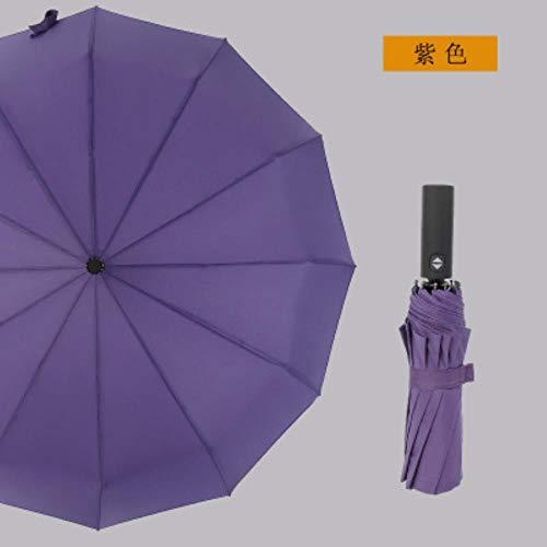 ZPN volledig automatische paraplu 12 botten 3 vouwen paraplu mannen