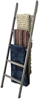 Blanket Ladder - Stylish Wooden Rack for Blankets, Throws, Quilts, Scarves - Quick to Assemble & Set-Up - 63x 17.5 x 1.75-...