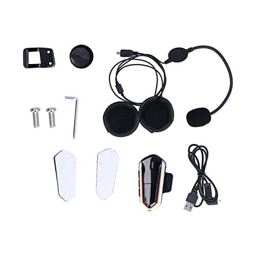 Estink Motorradhelm-Headset,Kopfmontiertes Drahtloses Bluetooth-Headset,Wasserdicht und Tragbar,Integriertes FM-Radio,Dsp-Echo-Unterdrückungs- und Geräuschunterdrückungstechnologie