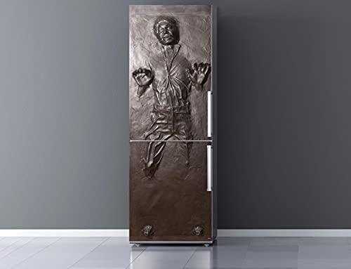 Pegatinas Vinilo para Frigorifico Han Solo en carbonita | Varias Medidas 185x60cm | Adhesivo Resistente y de Fácil Aplicación | Pegatina Adhesiva Decorativa de Diseño Elegante