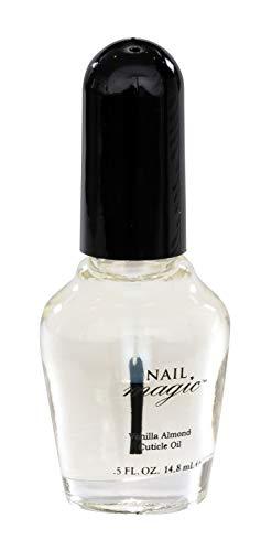 Nail Magic Nail Cuticle Oil, Vanilla Almond, Assists with Peeling Fingernails, Reduces cracking cuticles, 0.5 fluid oz
