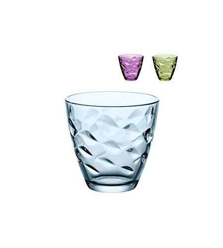 Bormioli Rocco Set 6 Pz Bicchieri Acqua in Vetro Flora Color Verde 26 Cl