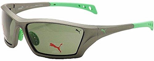 PUMA Polarisierte Sonnenbrille Sportbrille mit Brillenetui. Maximaler UV Schutz
