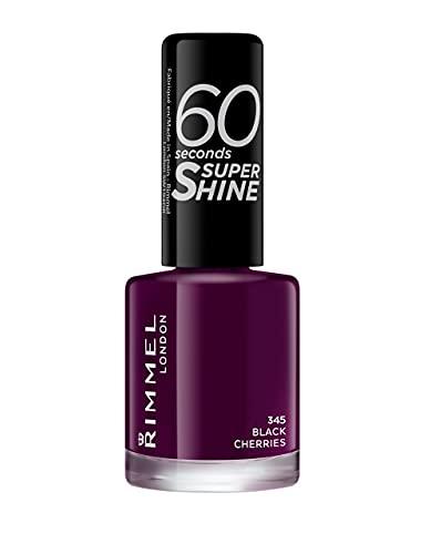 Rimmel 60 Seconds Super Shine - Vernis à Ongles Black Cherries 8 ml Violet