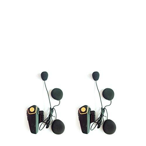 XYBH Xybhjxb A Prueba de Agua Walkie Talkie 1000m Motorcycle Bluetooth Casco Walkie Talkie Walkie Talkie Moto Headset FM MP3 (Color : 2pcsmodel1)