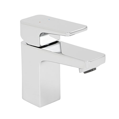 Speakman SB-2401 Kubos Single Lever Handle Bathroom Faucet – Replacement Faucet for Single Hole Sink, Polished Chrome