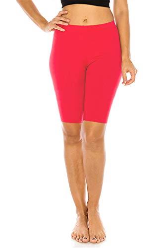 FUNGO Leggings Für Damen 1/2 Länge Capri Damen Sporthose Bunte Yoga Leggins F12 (Koralle, 36)