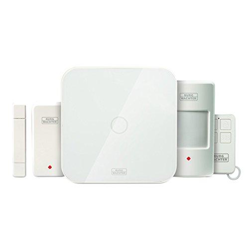 BURG-WÄCHTER Alarmanlage Smart Home, Starter Set, Kompatibel mit Amazon Alexa, BURGprotect SET 2200, Weiß