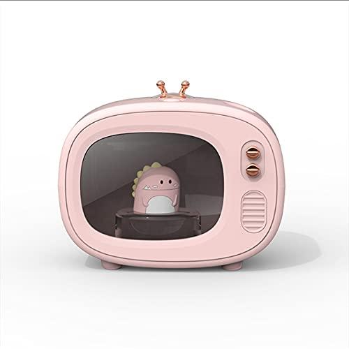 TV Cute Pet Humidifier Mini Desktop Mute Cartoon USB Humidificador de Aerosol humectante Regalo Dormitorio Luz de Noche USB Mini humidificador de Escritorio Mute Purificación,Rosado
