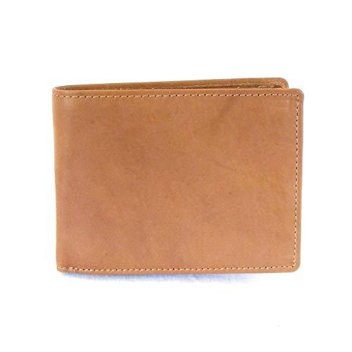 HGL heren portemonnee horizontaal formaat met RFID beschermfolie leer natuur 14216 fotovak