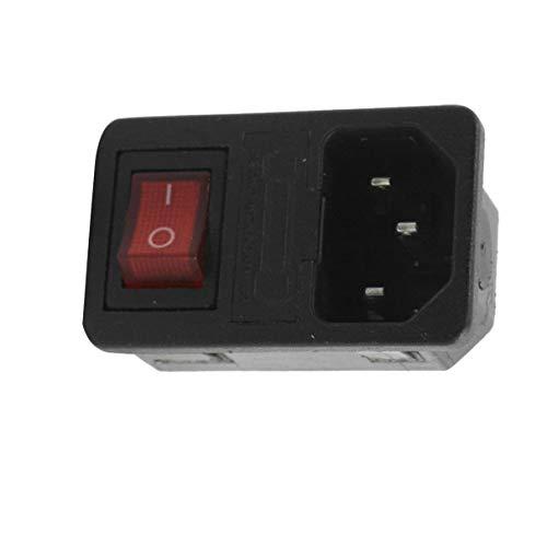 Aexit SS-8B-2 Schalttafeleinbau IEC320 C14 3P Einlass Panel Steckdose AC250V 10A w Sicherungshalter (ad6bf56978a6f8896bd7a7ec4181bb06)