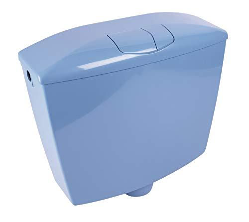Calmwaters® Spülkasten Blau, 2-Mengen-Spülung, 3,5 & 6-9 Liter Spülmenge, Aufputzspülkasten WC schmal, Spülkasten Bermuda-Blau, Aufputz, mit Zwei Mengen Technik, Modell Wellness, 29HB2724
