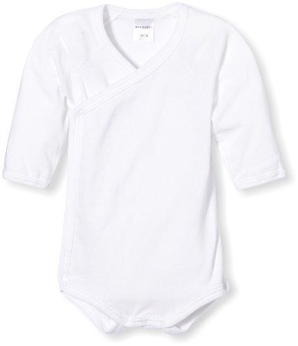 Schiesser Baby - Jungen Body Wickel 1/1 130929-100, Gr. 62 (Herstellergröße: 3M), Weiß (100)
