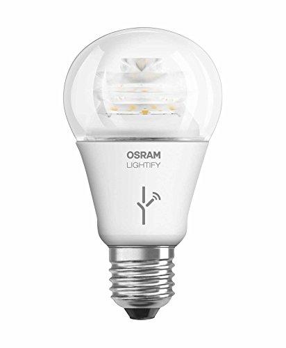 OSRAM LIGHTIFY Classic A LED-Glühlampe, 10 Watt, E27, klar, dimmbar / warmweiß 2700K / Kompatibel mit Alexa