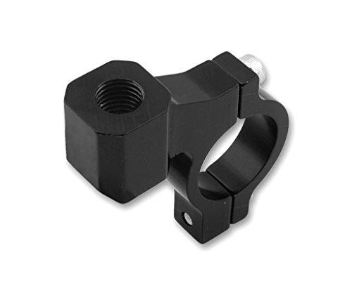 Stuurklem voor spiegel aluminium M10 linkse schroefdraad - zwart