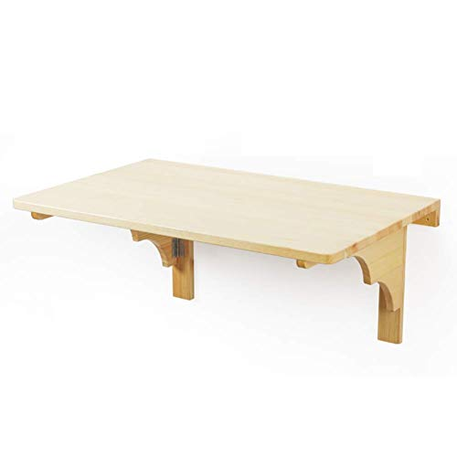 Wall-Hung Storage Table/Desk,Foldable Laptop Stand Portable Dining Table Kitchen Countertop, Pine Wood, 2 Size, Yue QiSong, Wood Color, 80 x 50cm