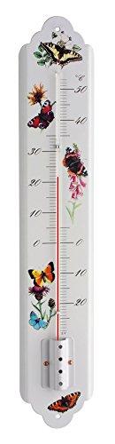 TFA Dostmann Analoges Innen-Außen-Thermometer, aus Metall, Innen- oder Außentemperatur, Nostalgie-Look, wetterfest