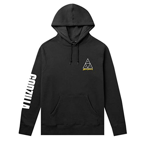HUF, Sweat godzilla tt hood, Black - M