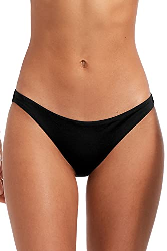 Vitamin A Women's Black Ecolux Luciana Hipster Bikini Bottom Black Ecolux 6