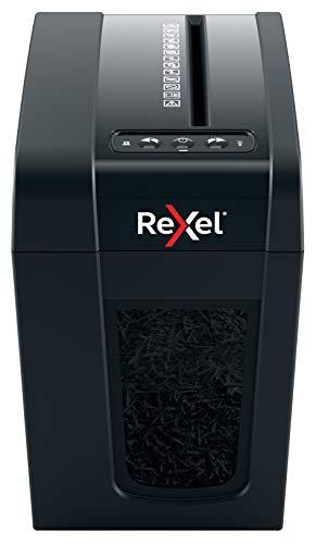 Rexel Secure X6-SL Whisper-Shred Destructora de Papel con Corte en Partículas P4, Papelera Extraíble de 10 L, Silenciosa y Compacta, 2020125