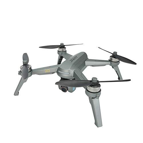 Luccase Silber RC Quadrocopter mit 7,6 V 2420 mAh Li-Po-Akku JJR / C X5P EPIK und Schwanzloser Motor 2,4 GHz 4 Kanäle 5G WiFi FPV 4K Kamera GPS RC Drone Quadcopter, 33 x 33 x 10 cm