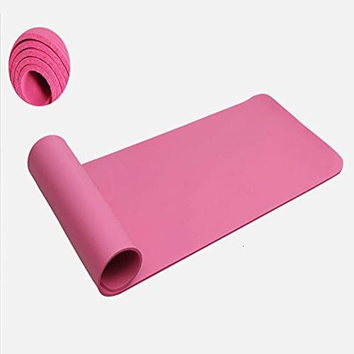 POMNEFE Estera de Yoga súper Gruesa de 20 MM Antideslizante NBR para Yoga Principiante, Gimnasio, Estera de Ejercicio, insípido, a Prueba de Humedad, 183 * 61 cm