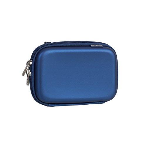 """RIVACASE Tasche für Festplatten bis 2.5"""" – Schickes Hart Hülle aus wetterwiderstandsfähigen Material & Platz für Zubehör - Blau"""