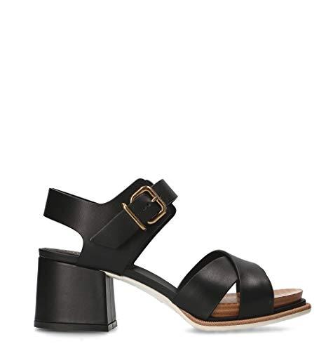 Tod's Luxury Fashion Damen XXW19A0Y510NB5B999 Schwarz Leder Sandalen | Jahreszeit Permanent