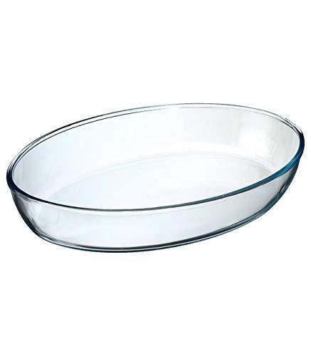 Secret de Gourmet - Plat ovale en verre 35x25 cm