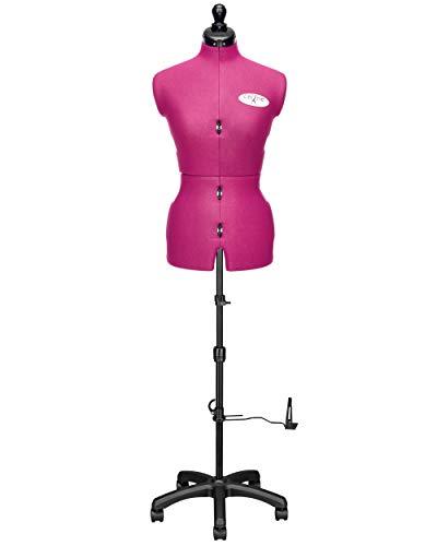 Deubl Schneiderpuppen Damen verstellbar Celine Multi (Gr.S/36-44) 8-teilig komplett einstellbar, 5-Bein Fuß mit Rollen, Rückenlängenverstellung, Schneiderbüste mit Beinansatz