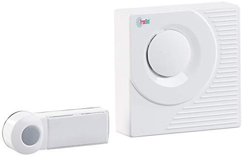 FreeTec Klingel Pflegebedürftige: Funk-Klingel FTK-80, batteriebetrieben (Funkklingel batteriebetrieben)
