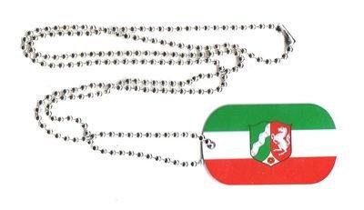 Dog Tag Nordrhein Westfalen Erkennungsmarke 30 x 50 mm Fahne Flagge