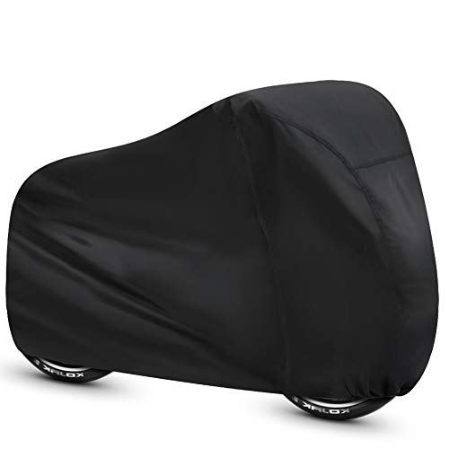 ALBOYI Bicycle Cover 190T Outdoor Waterproof Bike Cover Anti Dust UV Rain Cover for Mountain Road Electric Bike(Black)